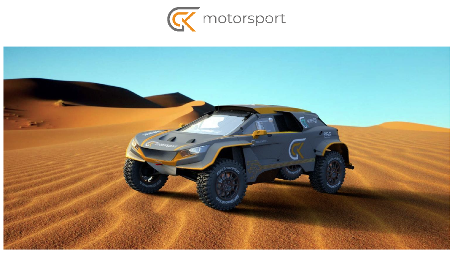 GCK Motorsport Launches Hydrogen Powered Vision for Future Cross Country Rallying Announce the GCK E Blast 1 Dakar Vehicle