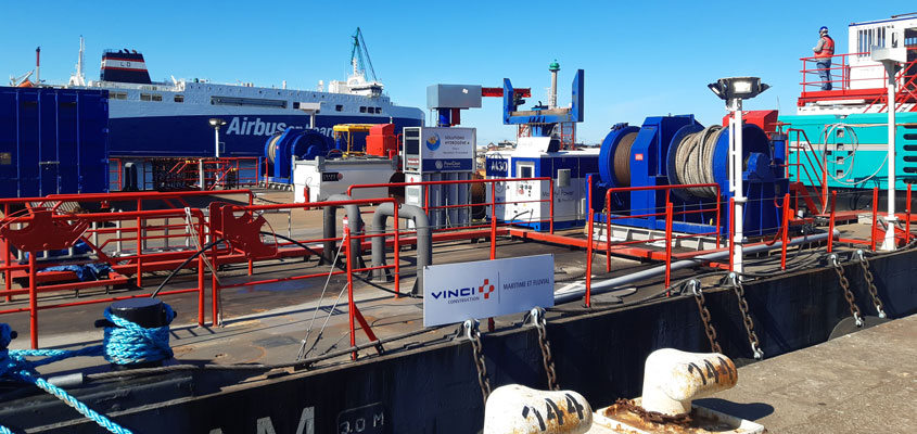 Hydrogen a First Conclusive Test at a Construction Site