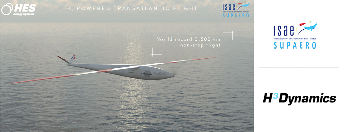 ISAE SUPAERO and H3 Dynamics Develop a Zero Emission Hydrogen Fuel Cell Powered Pilotless Aircraft to Cross the Atlantic 1