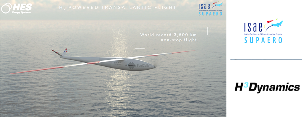 ISAE SUPAERO and H3 Dynamics Develop a Zero Emission Hydrogen Fuel Cell Powered Pilotless Aircraft to Cross the Atlantic 2
