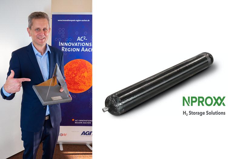 NPROXX awarded with AC%C2%B2 Innovation Prize Region Aachen 2020 for Carbon Fiber Hydrogen Storage