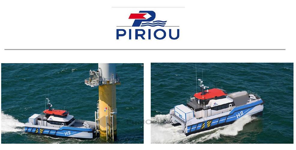 PIRIOU Develops Crew Transfer Vessel CTV with Hydrogen Hybrid Propulsion