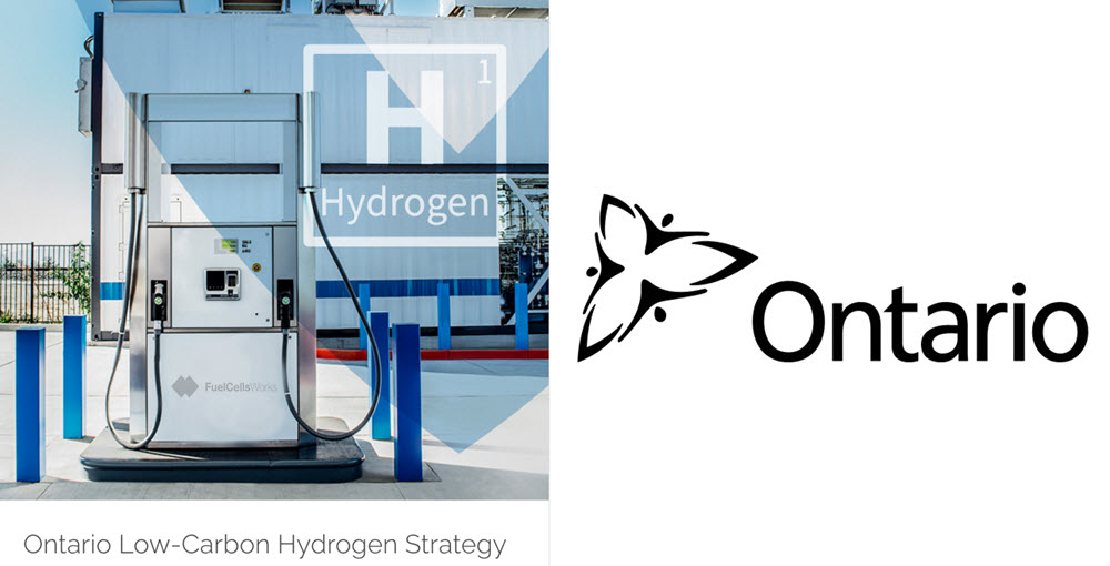 The Ontario Government Announces Plan to Develop a Hydrogen Economy