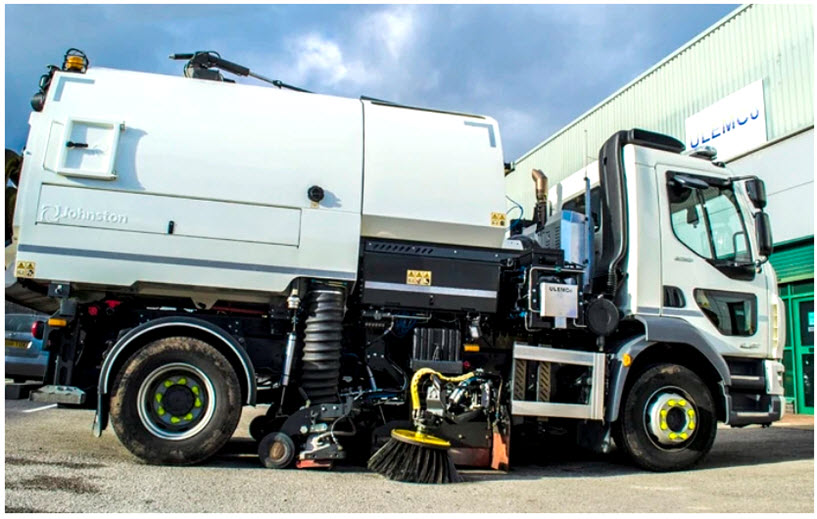 ULEMCo Collaborates with JCB and Bucher to Produce New Road Sweeper for Aberdeen City