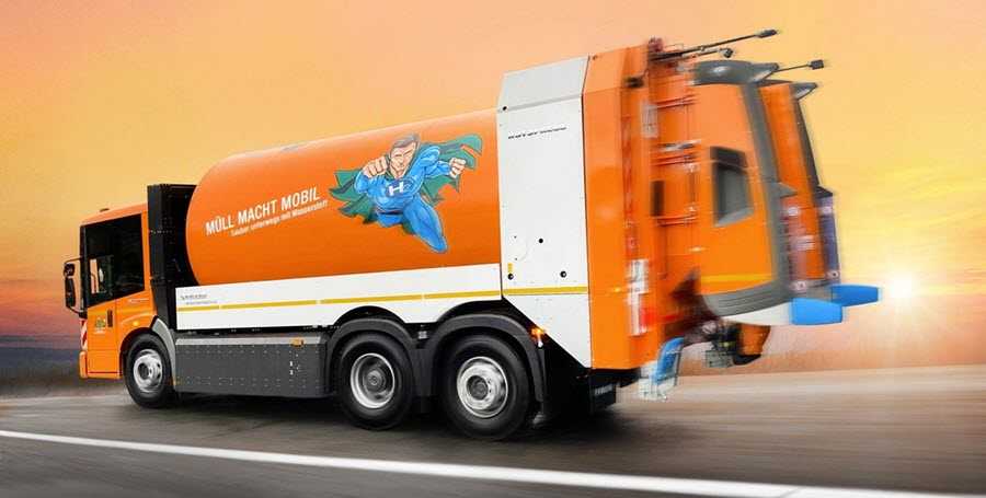 AWGs New Refuse Collection Vehicle Runs on Hydrogen