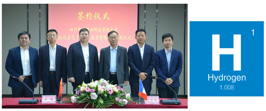 Air Liquide China Signs an Agreement with Sichuan China National Nuclear Guoxing Technology to Further Develop Hydrogen Energy