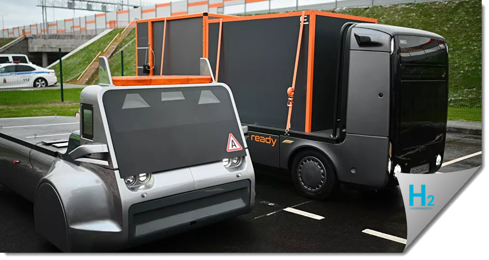 Autonomous Truck Drives with Hydrogen on Smart Hyway