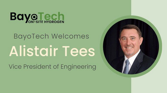 BayoTech Appoints Alistair Tees as Vice President of Engineering