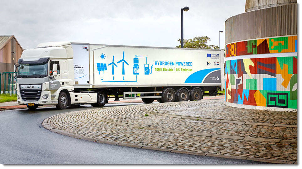 European First First 44 Ton Hydrogen Truck Takes to the Streets main