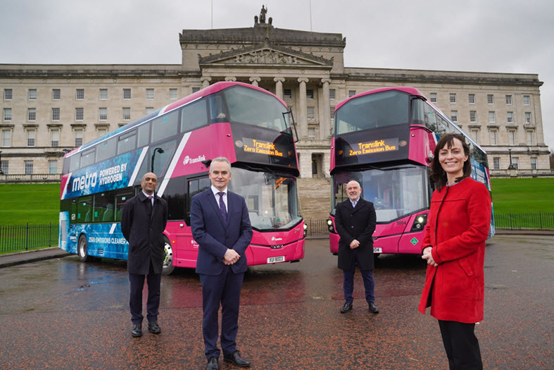 First Hydrogen Powered Double Decker Buses Entering Service in Northern Ireland