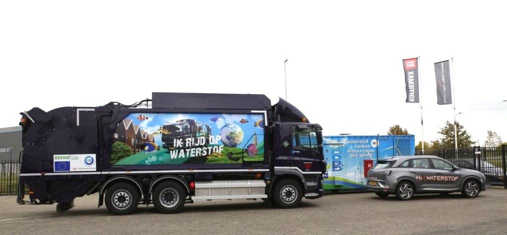 Hydrogen Refuse Truck Starts Operation in Breda using a Hydrogen Region 2.0 Refuelling Station