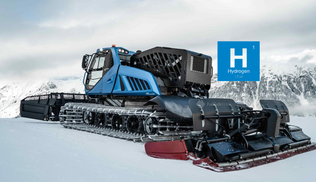 Italian Company Prinoth Launches Zero Emission Hydrogen Powered Snow Groomer Main