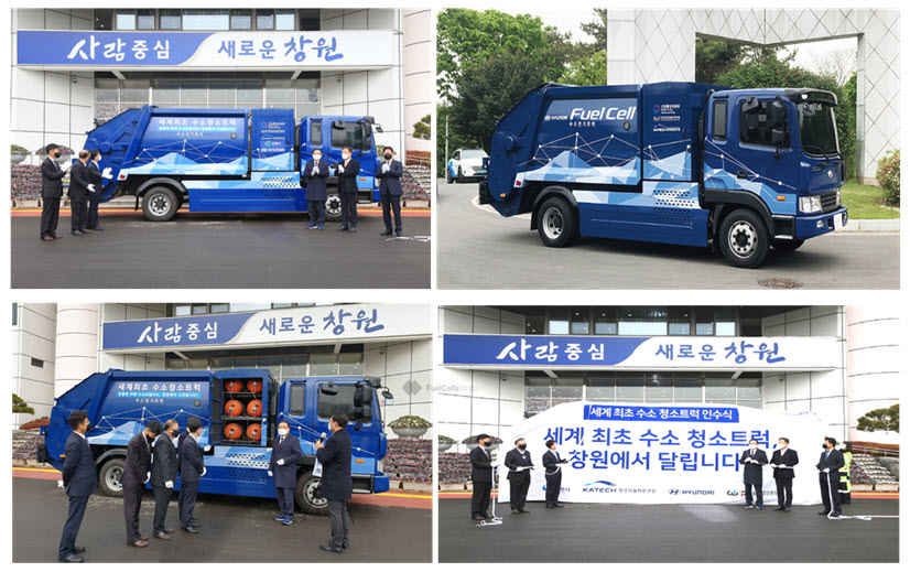Korea Worlds First 5 Ton Hydrogen Garbage Truck Goes Into Service in Changwon