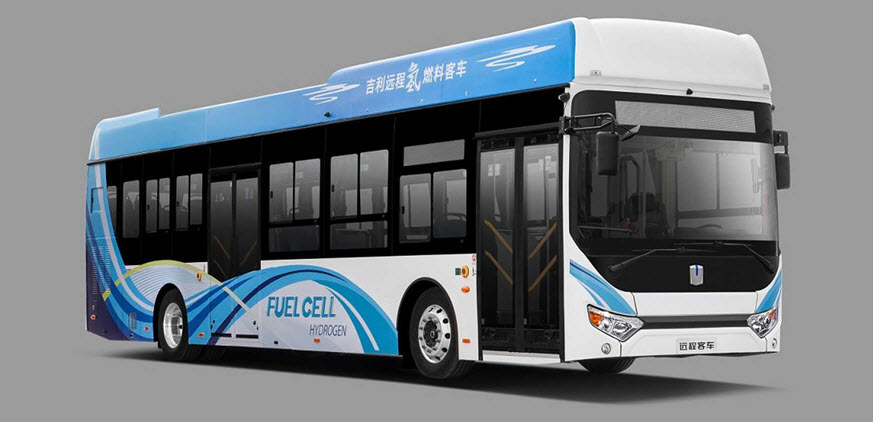Maanshan City Procures 14 Geely Hydrogen Fuel Cell Buses