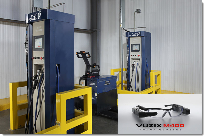 Plug Power Develops Vuzix Smart Glasses Based Remote Training and Onboarding Program to Support its Hydrogen Fuel Cells