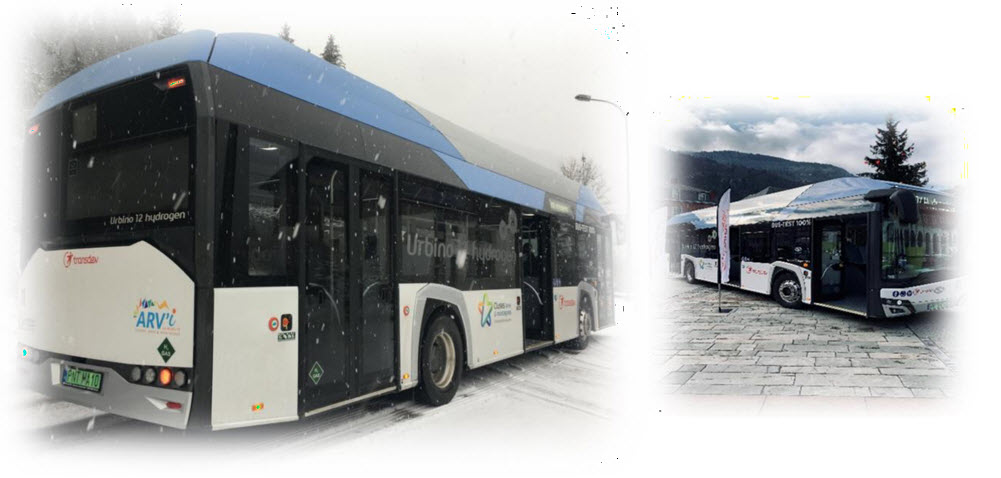 Transdev Held a Demonstration of a Hydrogen Bus in Cluses