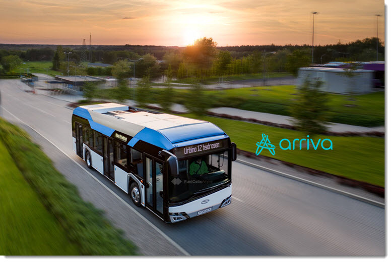 Arriva and Solaris Bus Coach Conclude an Agreement for the Supply of Hydrogen Buses