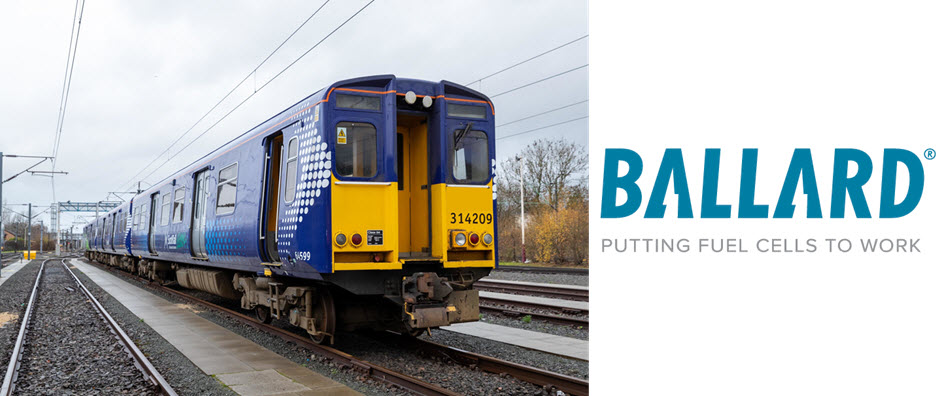 Ballard Announces Order for Modules to Power Scotlands First Fuel Cell Powered Train