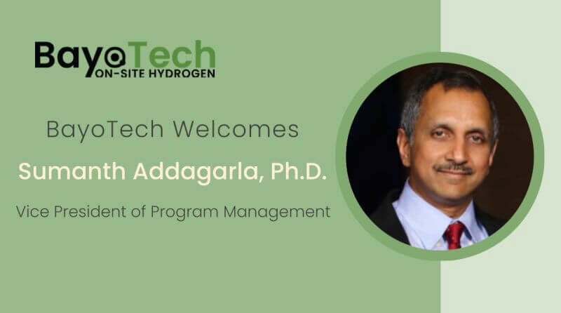 BayoTech Selects Sumanth Addagarla Ph.D. as Vice President of Program Management