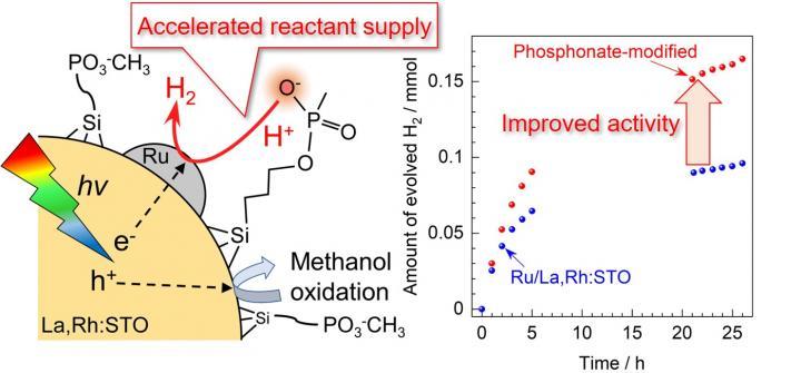 Boosted Photocatalysis for Hydrogen Evolution Reactant Supply Thru Phosphonate Groups