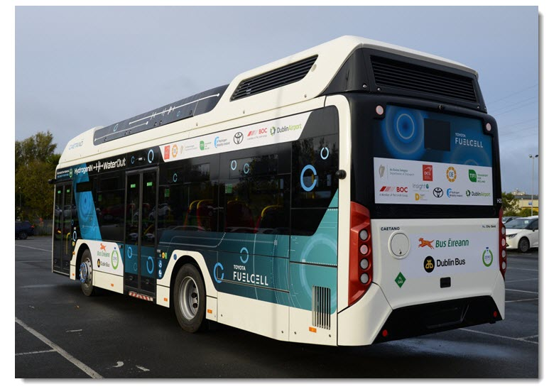 Caetano Hydrogen Bus Trial in Dublin Ends with 3000 km Covered
