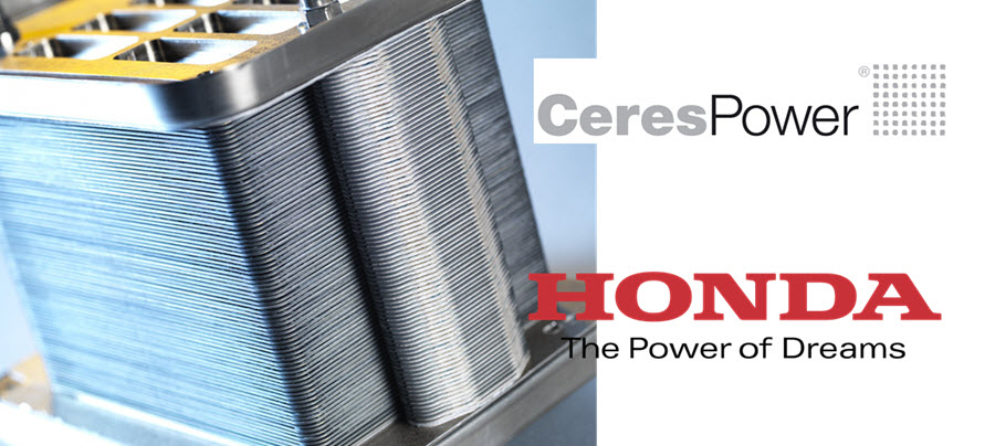 Ceres Power and Honda Sign New Joint Development Agreement on Solid Oxide Fuel Cells