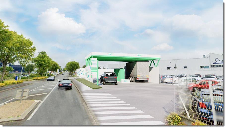 Construction Starts on Hydrogen Station at Michelins Vannes Site