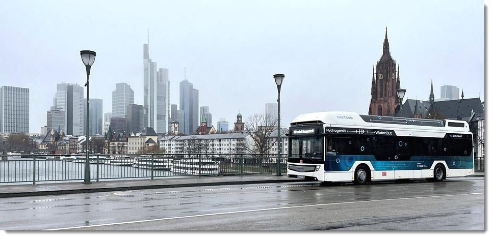 fuel cells works, hydrogen, hydrogen bus, frankfurt