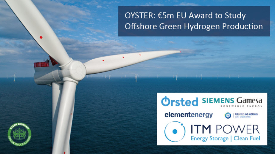 E5m EU Award to Study Offshore Green Hydrogen Production with Orsted and Siemens Gamesa