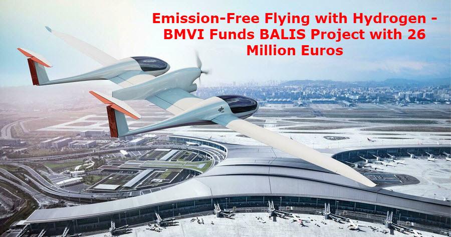 fuel cells works, emission-free flying, hydrogen, aviation, bmvi