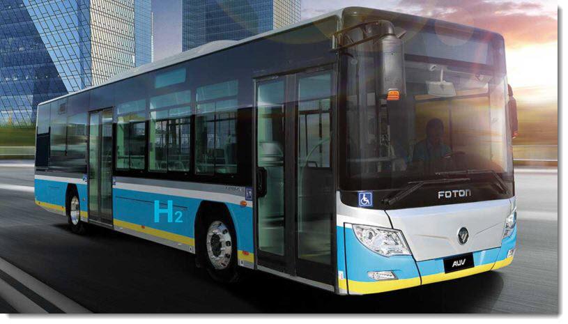 fuel cells works, foton, hydrogen bus