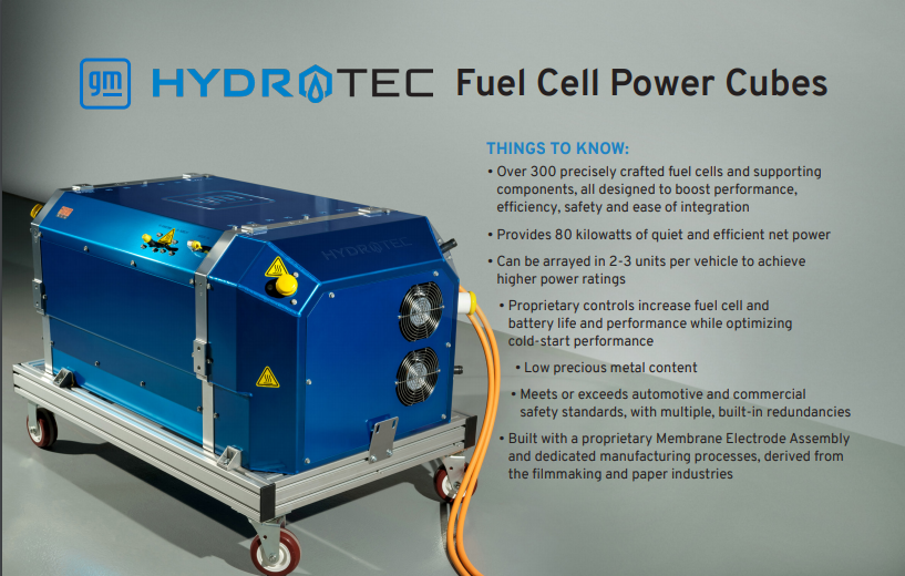 GM to Supply Navistar With Hydrotec Fuel Cell Power Cubes for Electric Vehicles