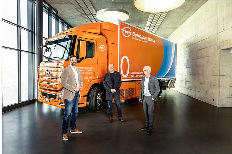 Gebruder Weiss Tests the First Hydrogen Truck