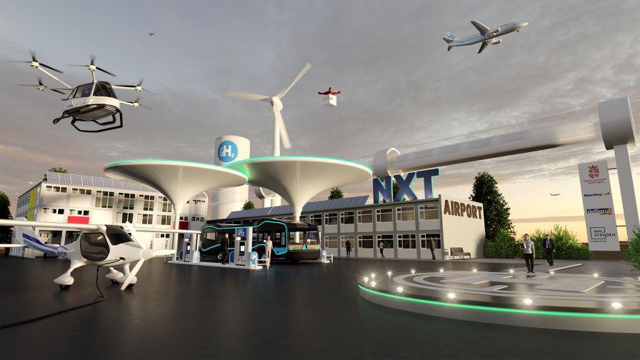 fuel cells works, groningen airport eelde, hydrogen, netherlands