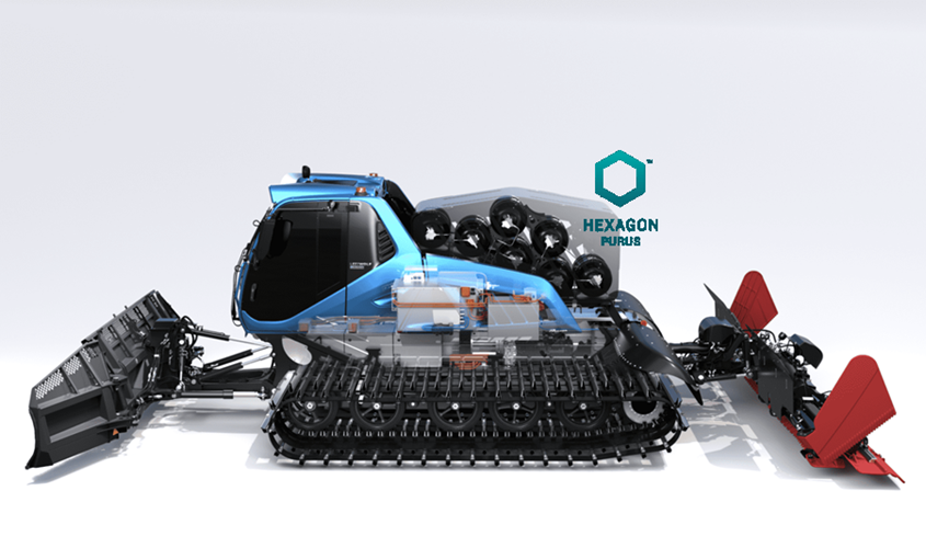 Hexagon Purus Delivers Cylinders to the Worlds First Hydrogen Powered Snow Groomer