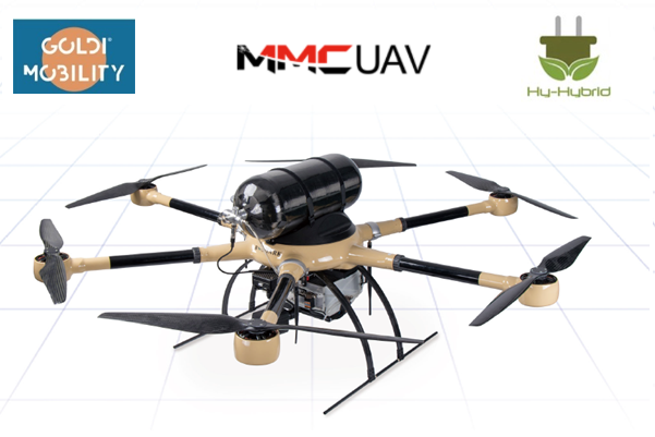 Hy Hybrid Energy GOLDI Mobility and MMCUAV Sign Partnership Agreement on Hydrogen Drone Business