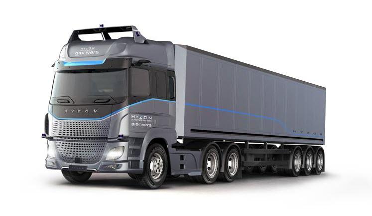 fuel cells works, hyzon motors, hydrogen trucks