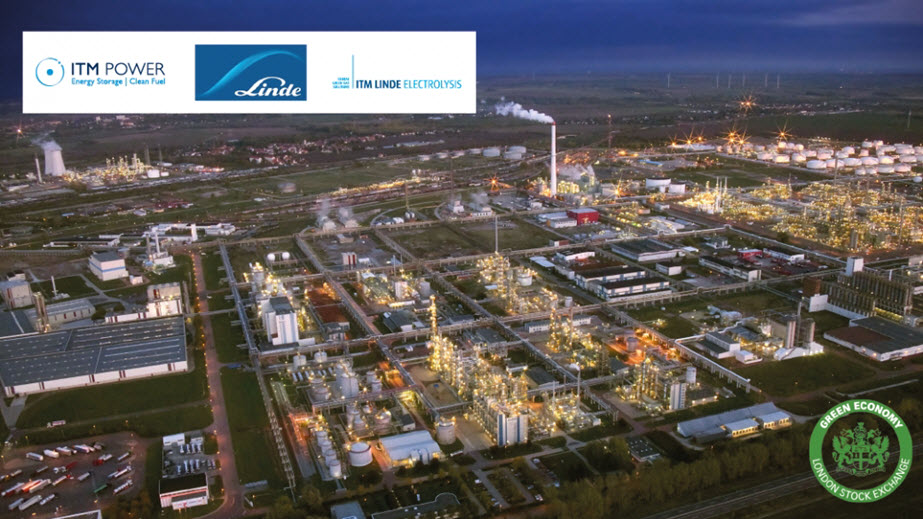 ITM Power Announces Sale to Linde of Worlds Largest PEM Electrolyser