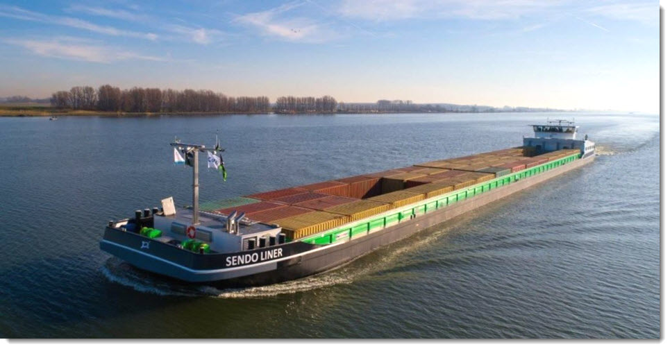 Inland Shipping On Green Hydrogen From the Zuiderzeehaven in Kampen