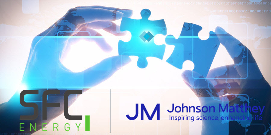 Johnson Matthey and SFC Energy AG Sign Multi Million Pound JV Agreement for Supply Fuel Cell Components