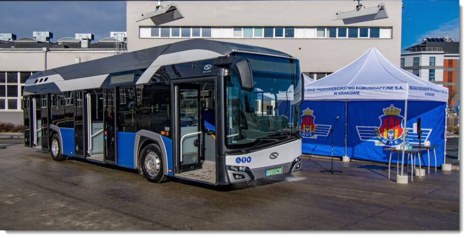 Krakow First Hydrogen Bus Tested