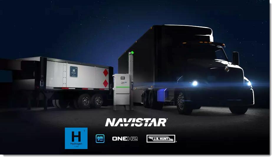 fuel cells works, navistar, general motors, oneh2, hydrogen, fuel cells