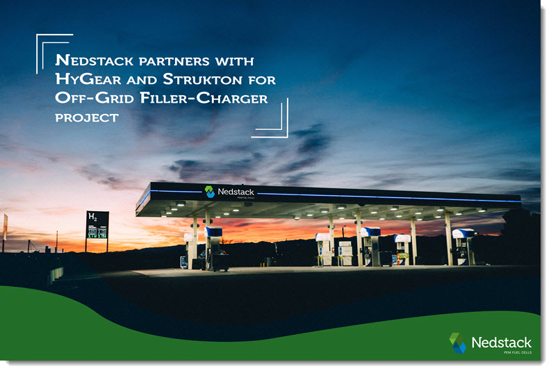 Nedstack Partners with Hygear and Strukton for Off Grid Filler Charger Project
