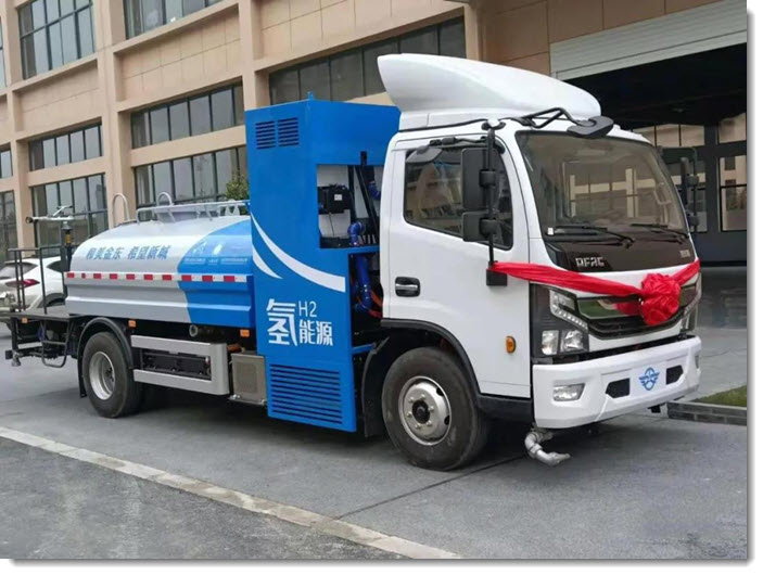 fuelcellsworks, Panstar Technology Release First Hydrogen Fuel Cell Sanitation Vehicle