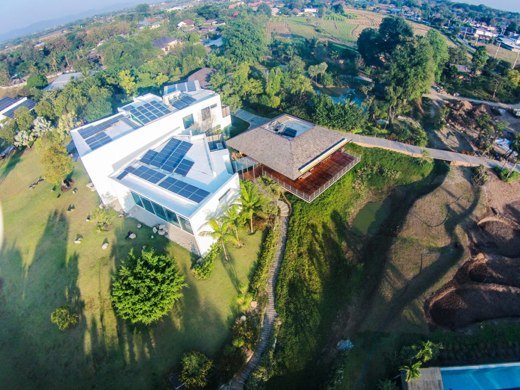Phi Suea House drone view