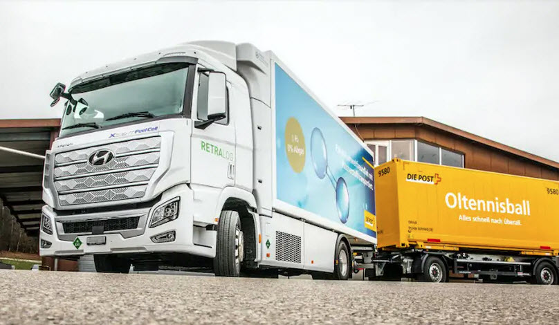 Retralog and Swiss Post Using Hydrogen Truck for Parcel Delivery