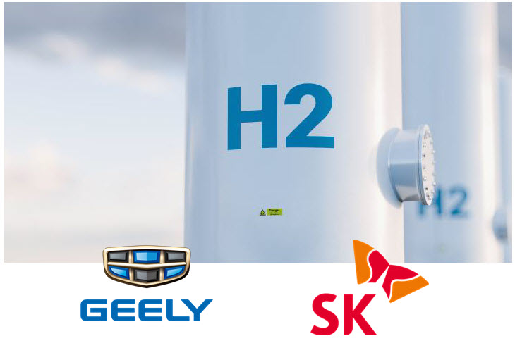 fuel cells works, sk group, geely, hydrogen