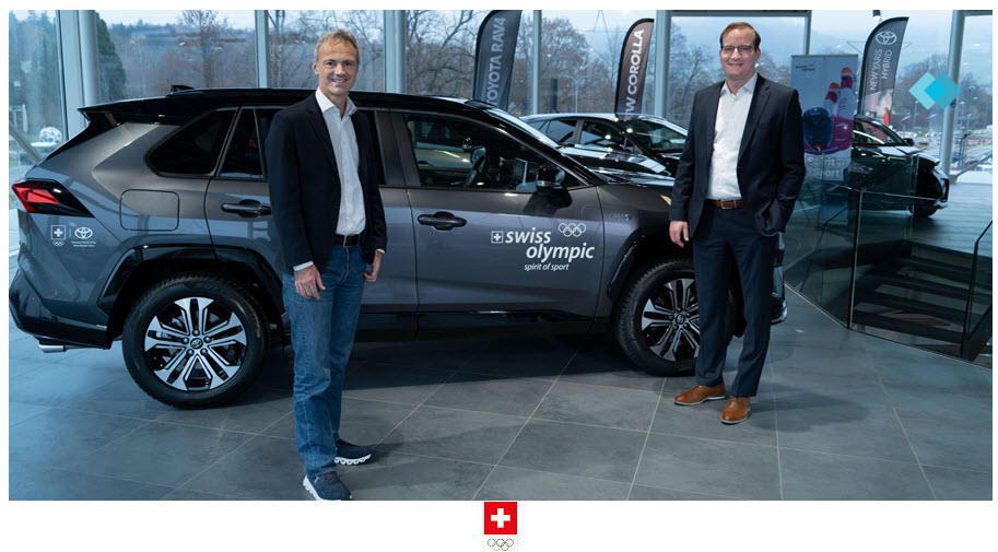 Swiss Olympic and Toyota Continue Sustainable Partnership Add Mirai Hydrogen Fuel Cell Vehicles to Fleet