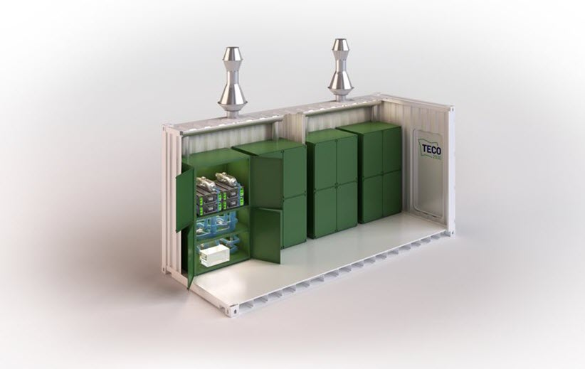 TECO 2030 Launches Fuel Cell Container 1