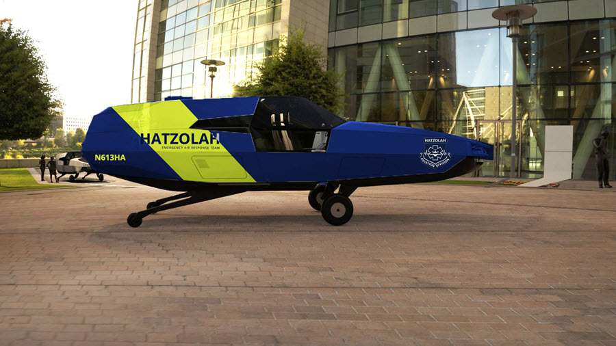 Urban Aeronautics Announces First Four Pre Orders of its EMS CityHawk Aircraft from Hatzolah Air